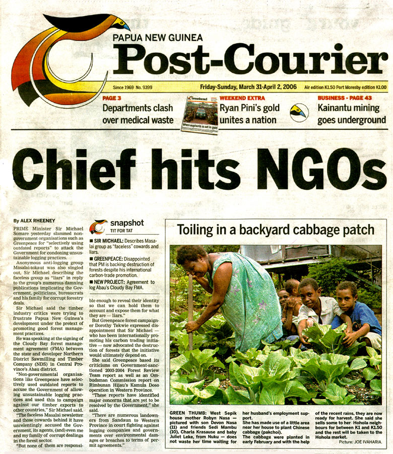 Post-Courier 31 March 2006